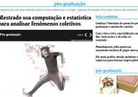 Mestrado em Sistemas Complexos é um dos destaques do jornal Folha de S. Paulo