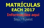 Confira aqui as informações sobre as Matrículas para 2017 – SISU e FUVEST
