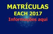 Informações sobre as Matrículas e a programação da Semana de Recepção aos Calouros 2017