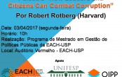 "Palestra ""How Leaders and Citizens Can Combat Corruption"""