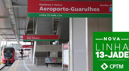 Nova Linha 13-Jade da CPTM iniciará as suas atividades
