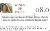 Apresentação do livro Wings of Exile (Asas do exílio), com a escritora Tanya Leroy