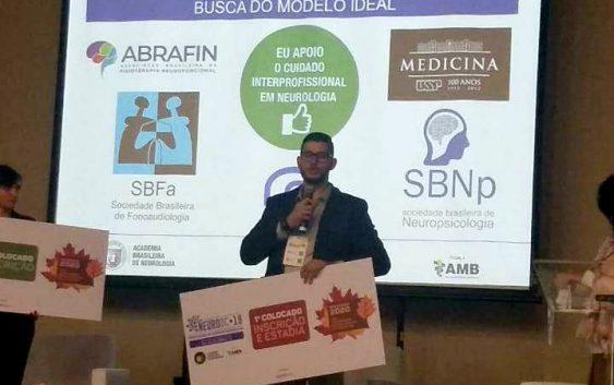 Aluno da EACH tem trabalho premiado na Convenção Nacional dos Departamentos Científicos da Academia Brasileira de Neurologia