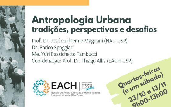 Curso de difusão: Antropologia Urbana: tradições, perspectivas e desafios