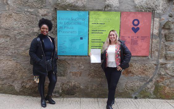 Professora e alunas da EACH participam de encontro em Portugal