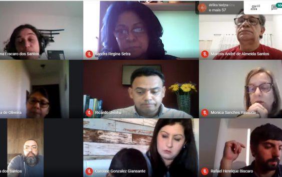 Em reunião virtual, diretoria e funcionários da EACH discutem o teletrabalho e ações para o segundo semestre