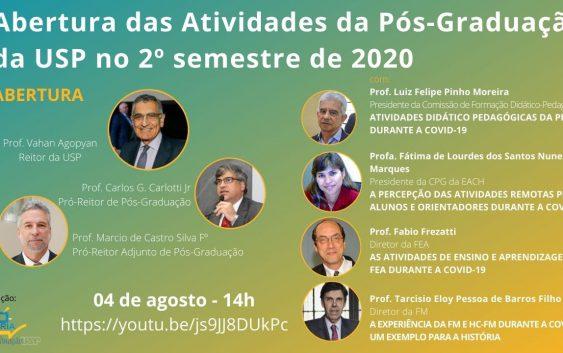 """Professora da EACH participará da """"Abertura das Atividades da Pós-Graduação da USP no 2º Semestre"""""""