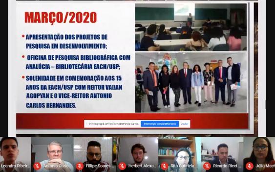 Estudantes encerram Projeto Santander Inclusão com apresentação de trabalhos ao vice-reitor